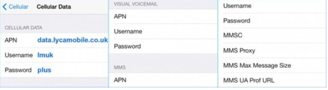 Lycamobile APN Settings For iPhone And IPad