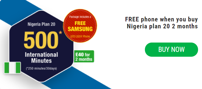 Nigeria Plan 20 With Free Samsung Phone