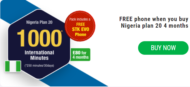 Nigeria Plan 20 With Free STK EVO Phone